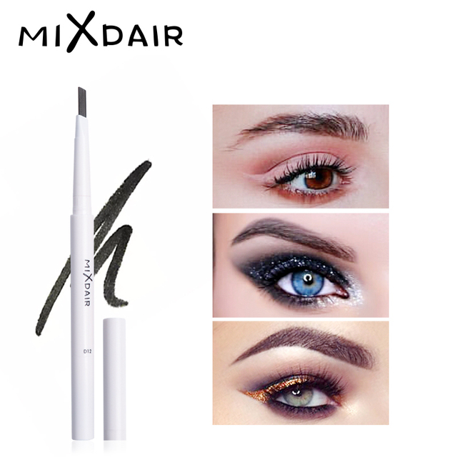 MIXADIR White Waterproof Eyebrow Pencil Long-lasting Eyebrow Makeup Automatic Eye Brow Pen With Brush 4 Colors Eyebrow Enhancer 5