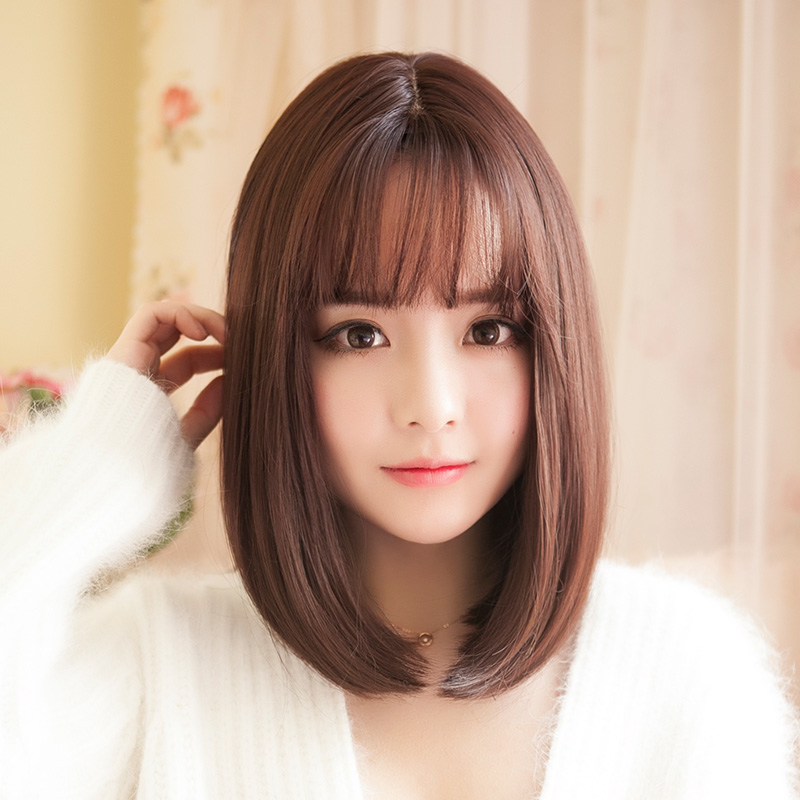 Pixie Cut Hairstyle Synthetic Wigs Bobo Black Short Straight Hair Wigs Short Hairstyle 2013