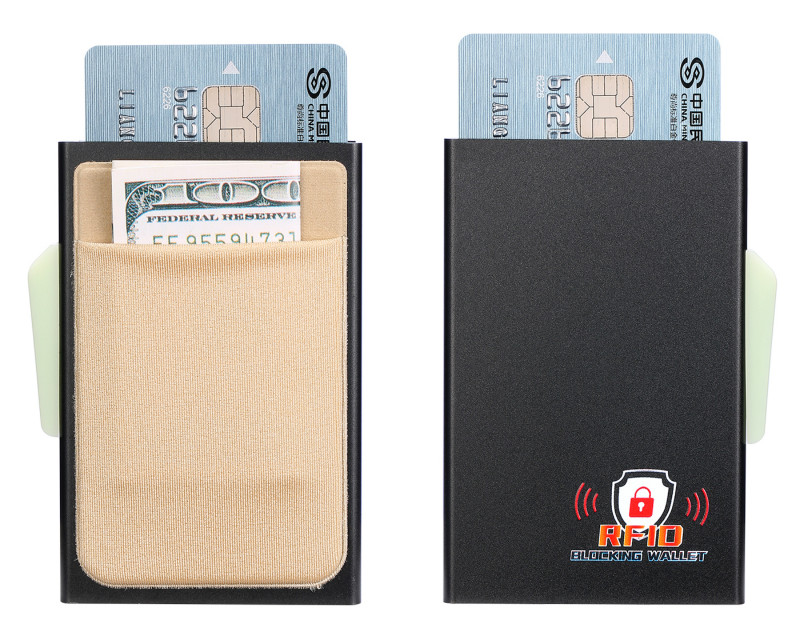 ZOVYVOL RFID Men Mini Wallet Slim Purse Business Hot Credit Card Holder Multifunction Automatic Aluminium Box Cards Case