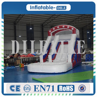 2019 Outdoor Summer Cool 0.55mm PVC Inflatable Slide with Round Pool Inflatable Water Slide For Kids And Adults