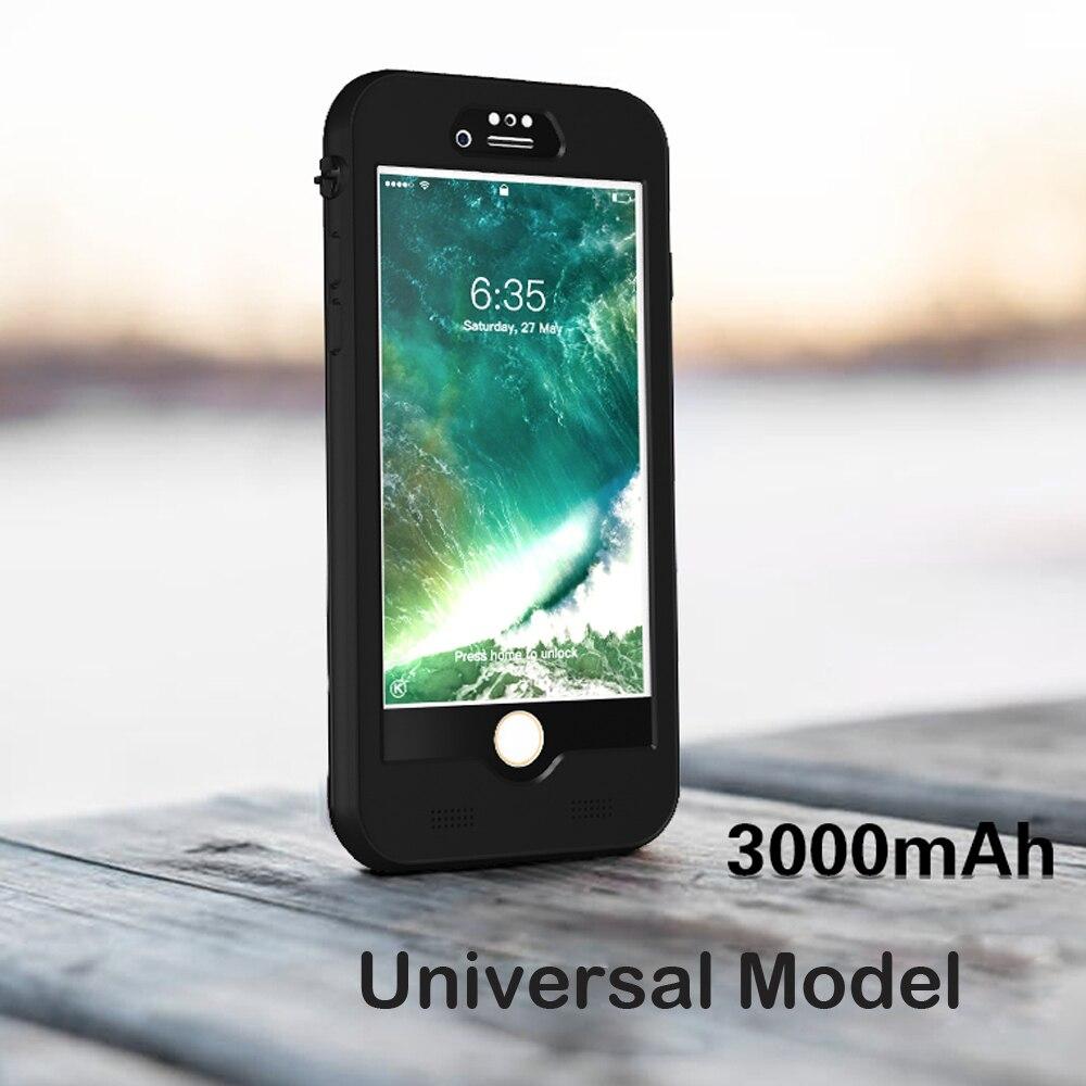 Внешний 3000 мАч Водонепроницаемый Дайвинг Snowproof Power Back Pack Зарядное устройство адаптер чехол для iPhone 6 S 7 8