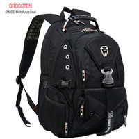 Swiss Multifunctional Travel laptop Backpack Men SchoolBags Students Business Rucksack 17 inch Computer bagpack waterproof