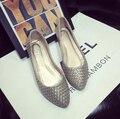 Удобные плоские туфли Балетки обувь больших размеров Женской обуви квартиры-A118-1 ЕВРО РАЗМЕР 35-42