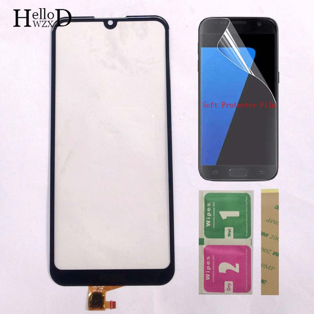 Touch Screen For Huawei Y6 2019 / Y6 Prime 2019 / Y6 Pro 2019 Touch Screen Digitizer Panel Sensor Front Glass Protector Film