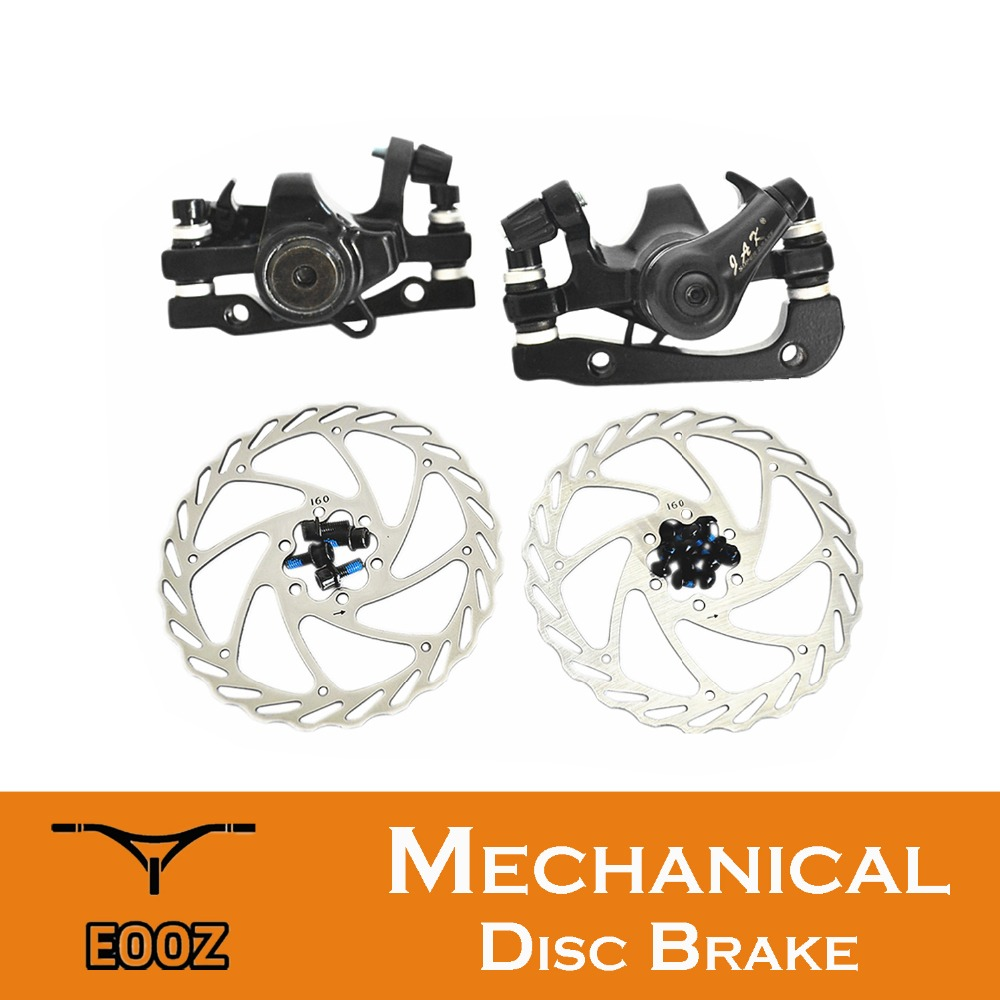 Mountain Bike Bicycle Mechanical Disc Brake Front /& Rear Set With 160mm Rotors