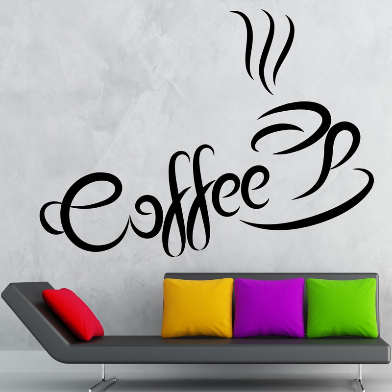 vinyl wall decals coffee beverage shop bar restaurant home