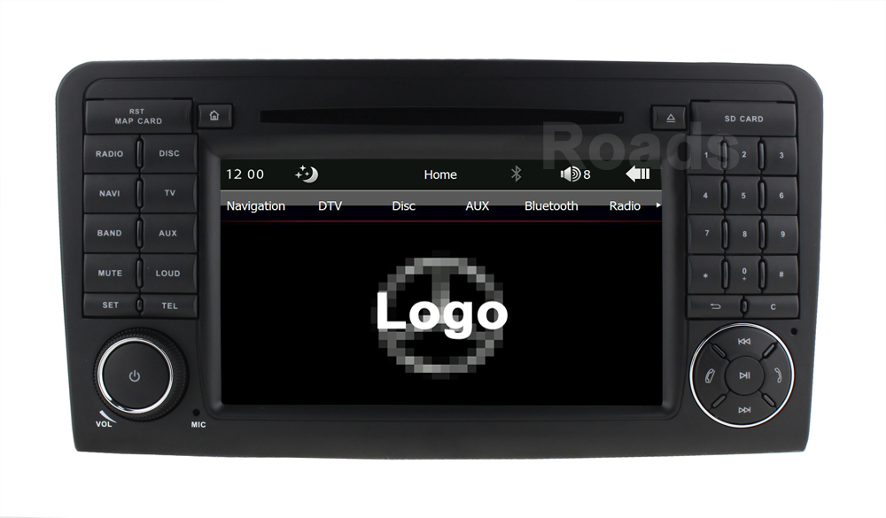 Car DVD Radio Player GPS for Mercedes/Benz ML W164 W300 ML350 ML450 ML500 GL X164 G320 GL350 GL450 GL500 цена