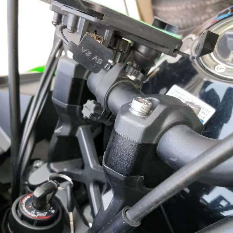 bike GP fits Kawasaki Versys 1000 2015 ON handlebar risers Height up Adapters aluminum alloy black