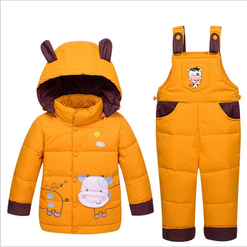 2017 New Arrive Baby Girls Boys Winter Down Sets Jacket +Pants, Kids Clothing Suits set,children girl down jacket suit 0-3 years autumn winter boys girls clothes sets sports suits children warm clothing kids cartoon jacket pants long sleeved christmas suit
