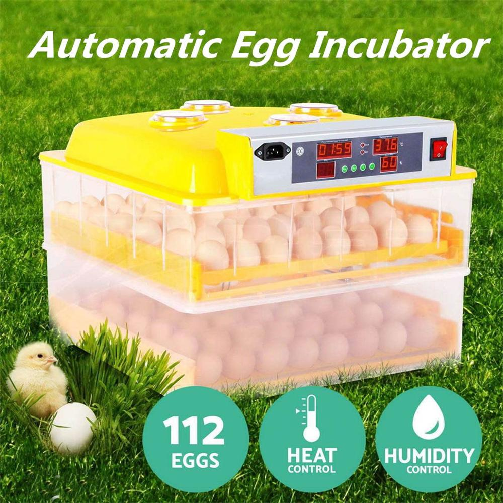 Plastic 112 Digital Chicken Eggs Incubator Temperature Control Automatic Incubator Turning Hatcher Incubation Tools Supplies цена