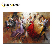 RIHE Music Ball Diy Painting By Numbers Piano Oil Couples Cuadros Decoracion Acrylic Paint On Canvas Modern Wall Art