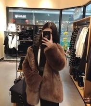 New Style High-end Fashion Women Faux Fur Coat 17S18