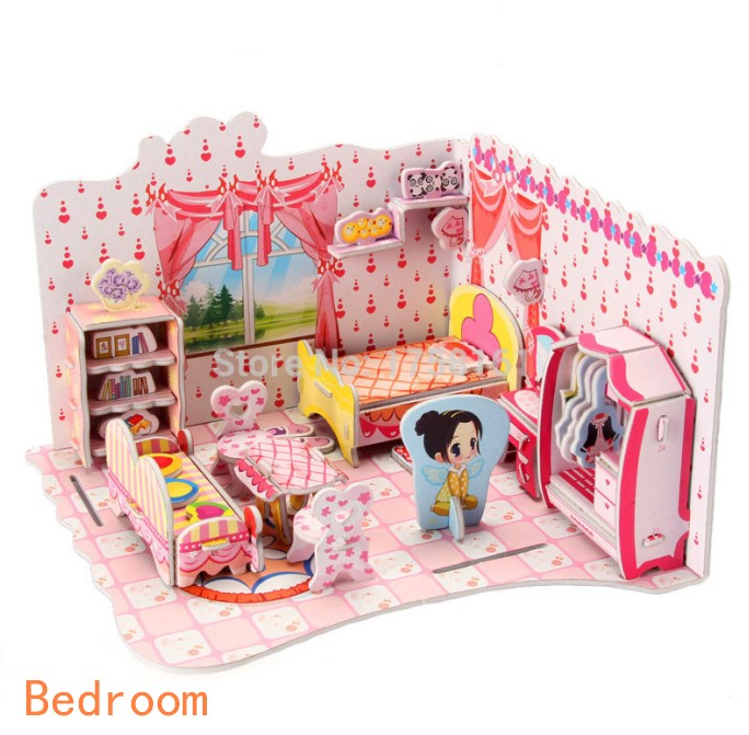 Kids Bedroom 3d Model aliexpress : buy 3d kids toys puzzle bedroom kitchen living