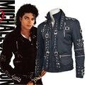 2017 новые женщины мужчины куртку Майкл Джексон танца косплей костюм Майкл Джексон куртка черная куртка Майкла Джексона