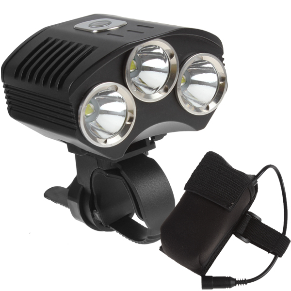4500 Lumens 3 x XM-L T6 LED Bike Light Bicycle Light with Power Indicator + 4400mAh Battery Pack super bright bike bicycle light supwildfire 50000lm 15 x xm l t6 led power