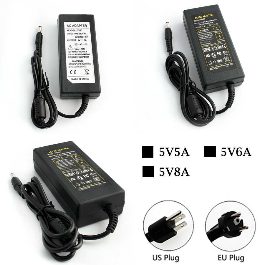 Блок питания зарядное устройство адаптер трансформатора DC 12 V 5 V 5A 6A 8A C 100 V-240 V к DC 12 V EU US Plug для RGB 5050 5630 Светодиодная лента лампа