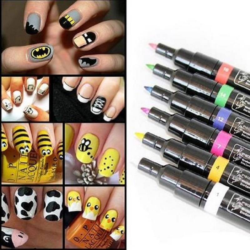 1pcs 16 colors for choice design pro nail art pen painting paint 16 colors for choice design pro nail art pen painting paint drawing pen nail polish tools manicures in nail polish from beauty health on aliexpress prinsesfo Images