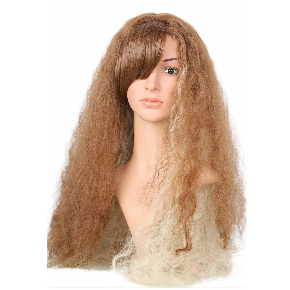 Harry Potter Hermione Granger Long Wavy Brown Wig Movie Cosplay Costume Accessories Women Fashion Festival Party Wigs Hot Sale