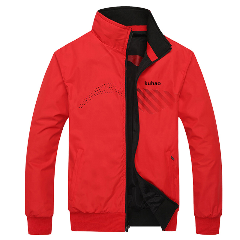 The new jacket male spring and autumn casual jacket zipper Brand jacket Mens warm double jacket Coat size L-4XL 0333