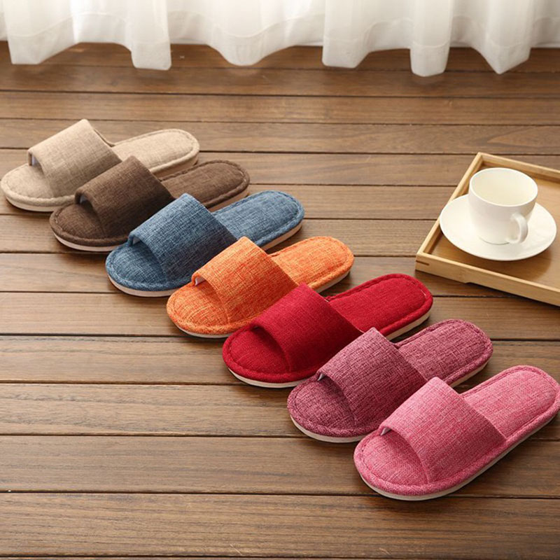 Jron New Arrival Men Home Slippers Shoes Solid Summer Slippers  Large Size Footwear Household Indoor Slippers For Men Woman