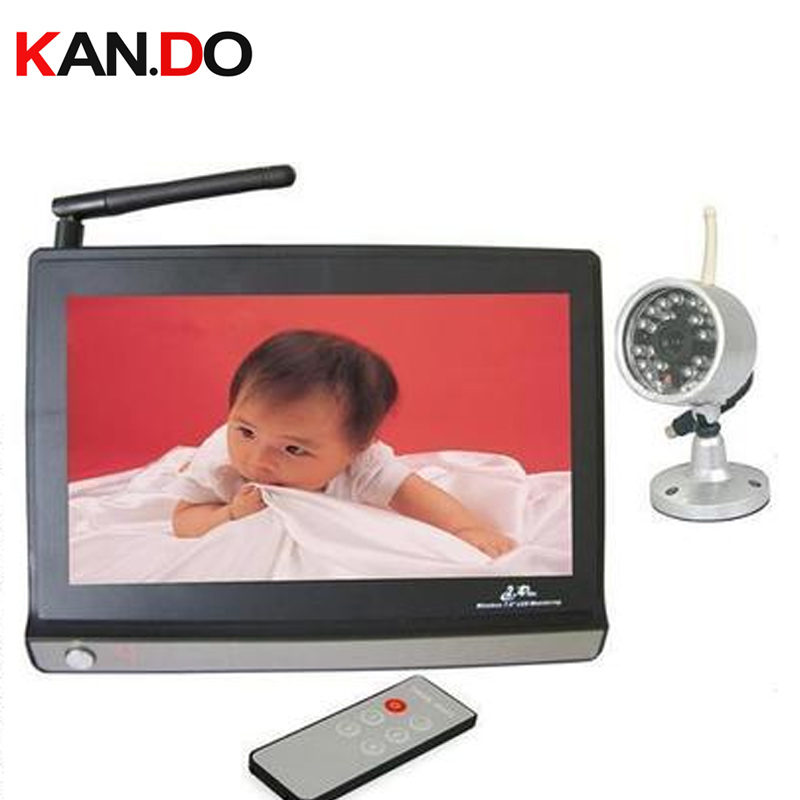 2.4G receiver+ camera,7 inch LCD Monitor,2.4G Wireless Receiver,CCTV Camera,CCTV receiver,baby monitor,4 channels support receiver