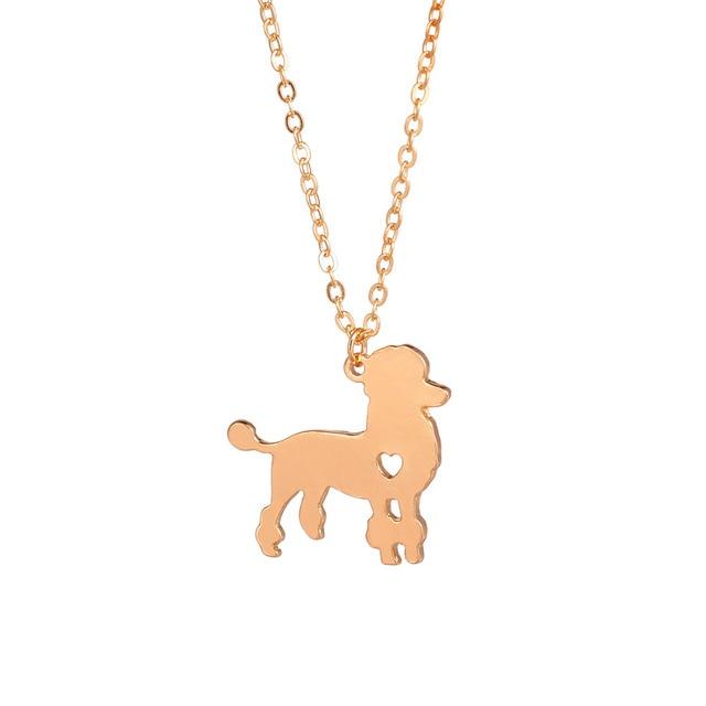 94bb185416f76 Moda Animais Pingente de Colar Personalizado Colares de Cão Poodle Cães  Groomer Presentes Para Amantes Dos