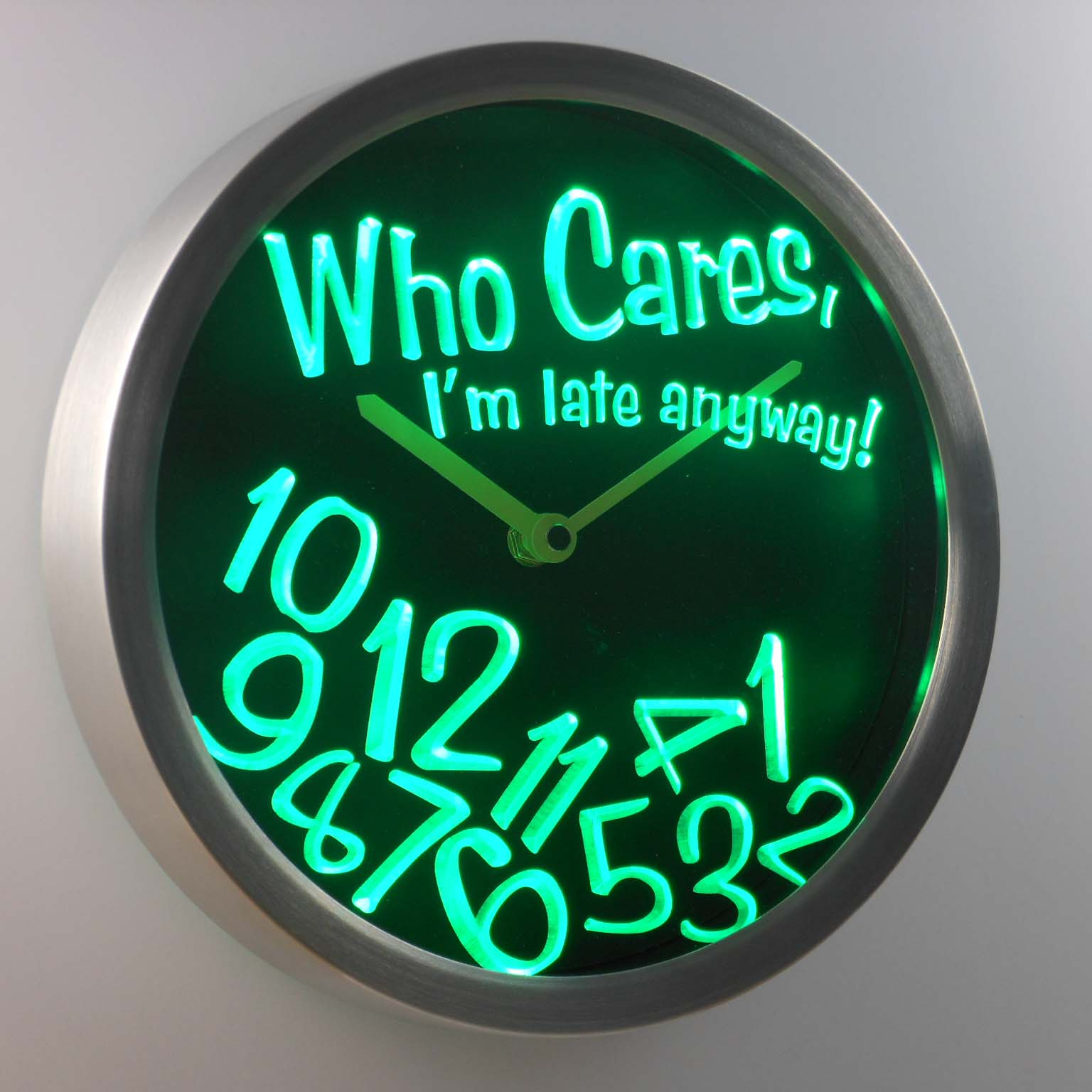 nc-tm ADV PRO Custom Made Neon Sign LED Clock Wall Neon Clock