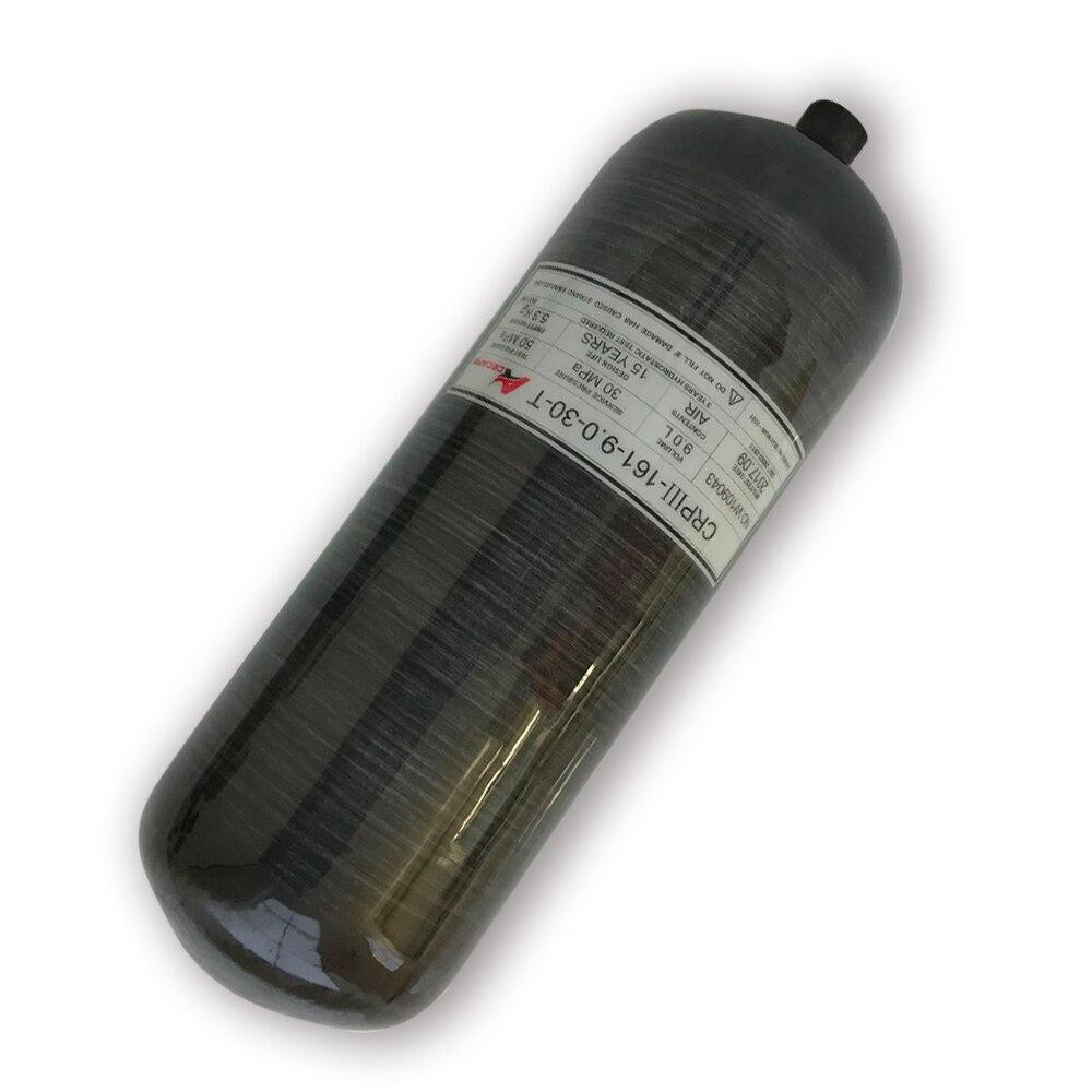 AC3090 Acecare 9L GB Black Carbon Fiber Cylinder Pcp Tank 4500psi 30Mpa In Saudi Arabia FREE Shipping