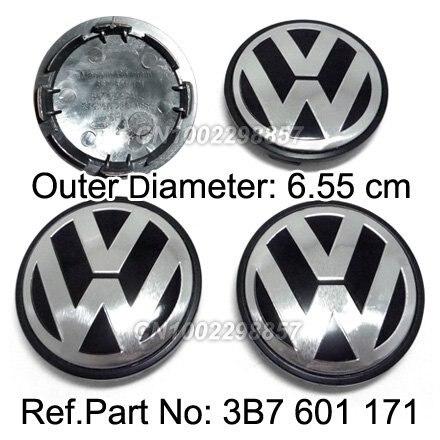 VW WHEEL HUB CENTER CAP FIT FOR Volkswagen EOS Golf Jetta Mk5 Passat B6 Replace #3B7 601 171 FREE SHIPPING 6.55cm