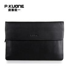 P.KUONE Famous Designer Men Wallets Genuine Leather Clutch Bag Big Capacity Purse Messenger Bag Casual Evening Bag Coin Purse