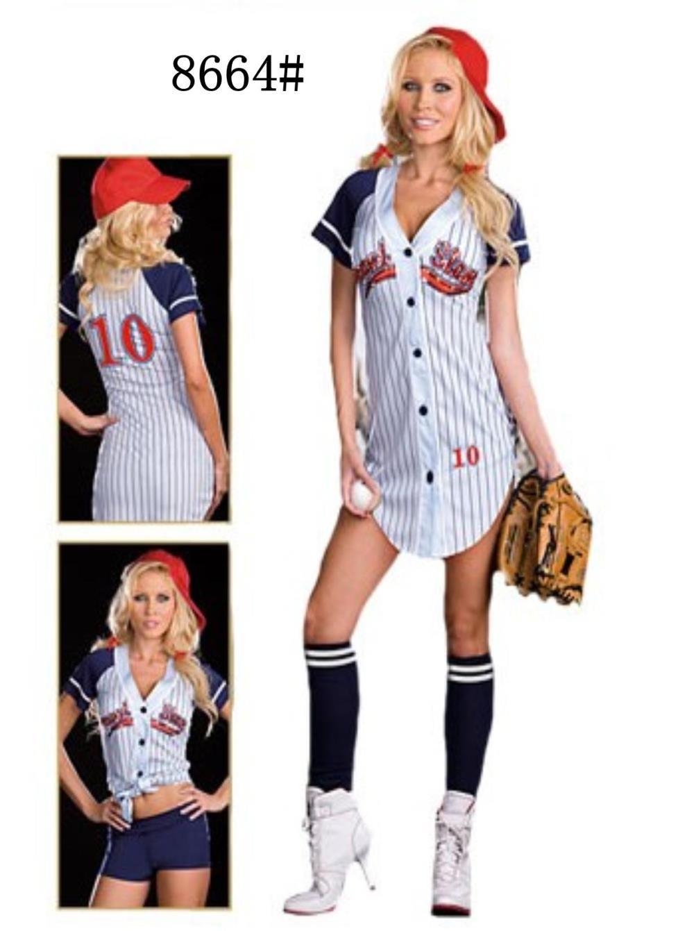 free shipping us ranger ball player role playing baseball nightclub stage costumes ds car service - Baseball Halloween Costume For Girls