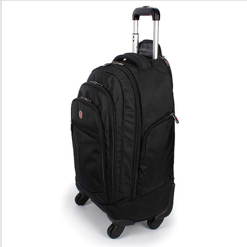 Letrend Large Capacity Travel Duffle Backpack Men Business Oxford Rolling Luggage Trolley Multifunction Carry On Suitcase Wheels trolley travel bag hand luggage rolling duffle bags waterproof oxford suitcase wheels carry on luggage unisex small size