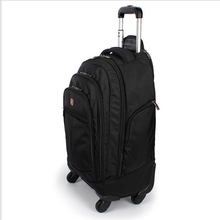 Letrend Large Capacity Travel Duffle Backpack Men Business font b Oxford b font Rolling Luggage Trolley