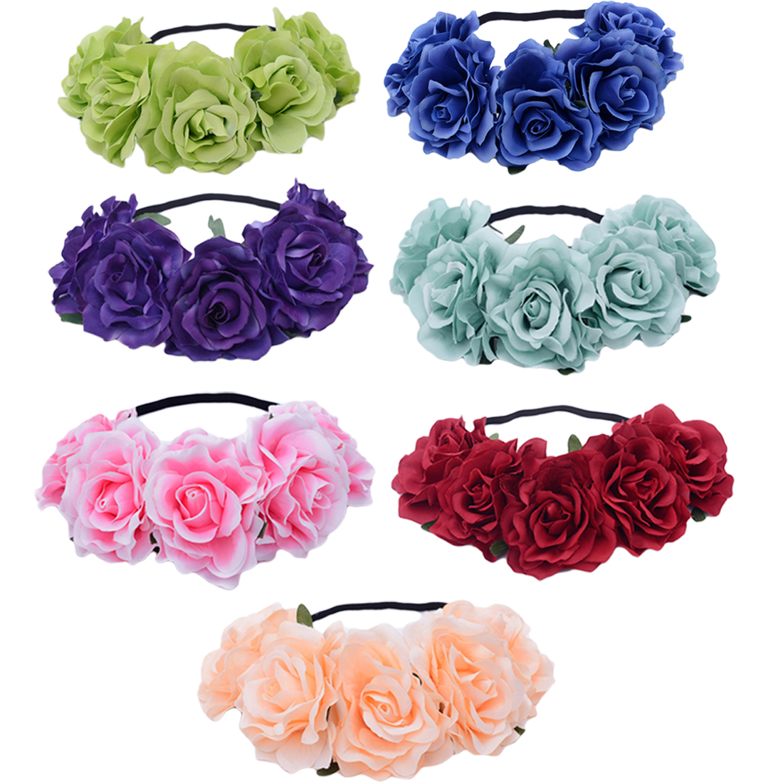 Charming Romantic Wedding Flower Crown Head Band Women Wedding Floral Head Wreath Bridesmaid Bridal Headpiece Flower Headband in Women 39 s Hair Accessories from Apparel Accessories