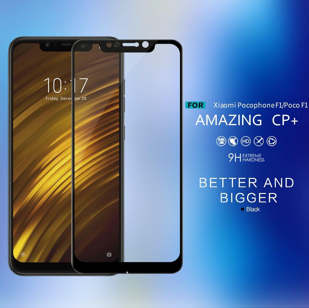 Nillkin CP+ glass for Xiaomi Pocophone F1 Anti-Explosion full screen protector film for Xiaomi Poco F1 tempered glass protectors