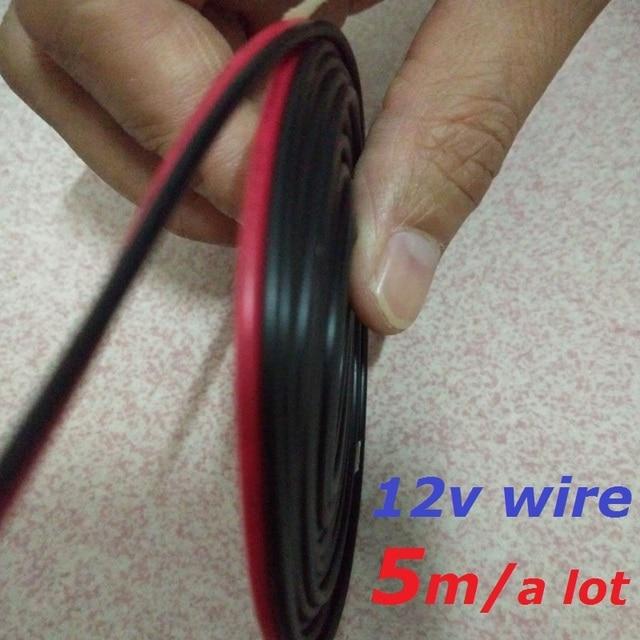 5 m/veel 12 V LED Verlichting Armatuur Power Kabel 0.5mm Draad ...