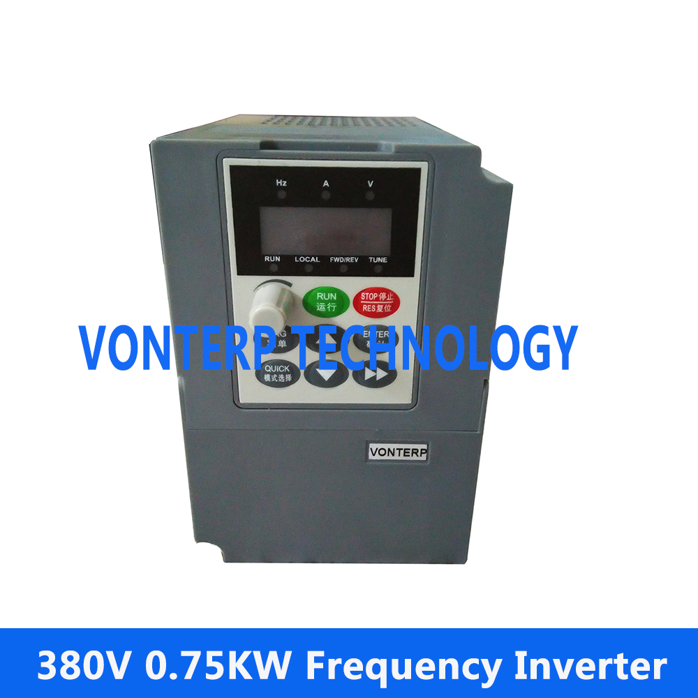 цена на 0.75KW VF control Frequency Inverter/3 phase 380V 2.3A vector control 0.75KW Frequency converter