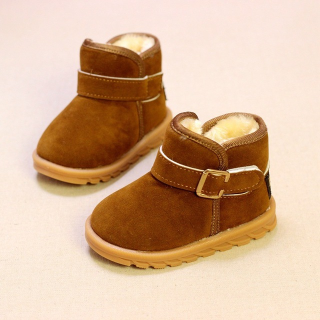 55d2cb4fc6 Baby Boys Boots Classic Style Martin Boots For Girls Winter Plush Warm Girls  Snow Boots Soft Solid Toddler Shoes Size 21-30