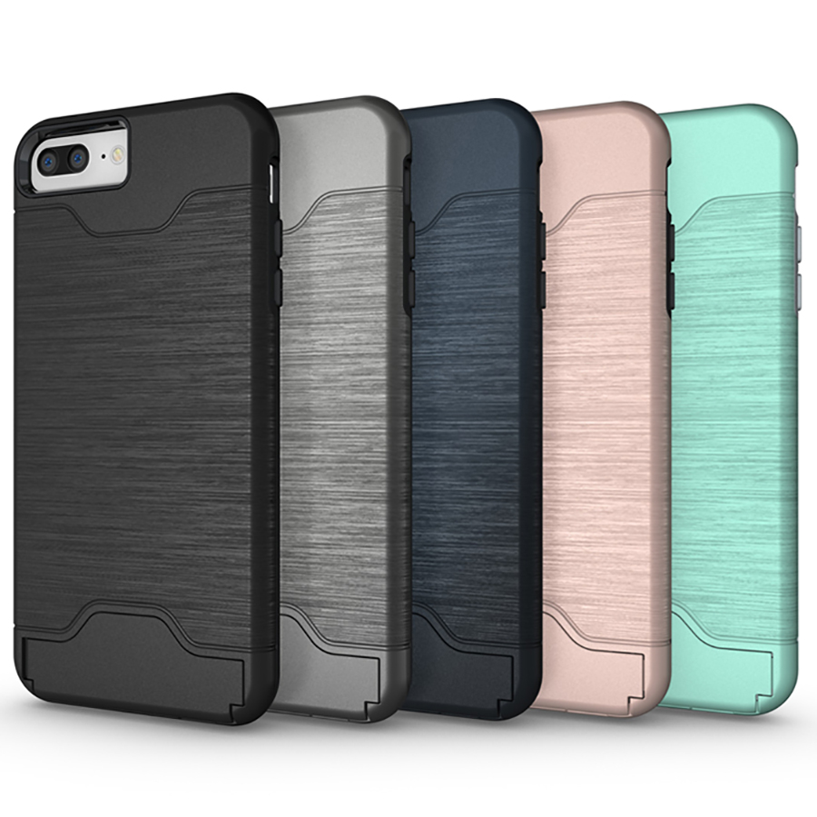 for iPhone 7 funda Luxury Slim Hybrid Credit Card pocket Hidden pouch Phone case Back Cover for Apple iPhone 6S X 8 Plus Coque