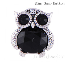 20pcs/lot mix colors the owl 18mm full Alloy snap button jewerly DIY Fit bracelet leather bracelet for women and men 20179-8330