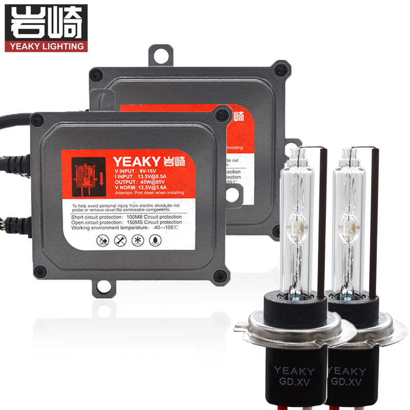Kit HID lumineux rapide 45 W YEAKY amélioré Kits xénon HID H1 yeaky H7 5500 K H11 kit de conversion d'ampoule hid 45 W 9005 9006 yeaky mix hid