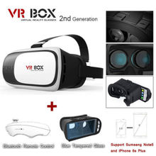 Hottest VR Glasses Google Cardboard VR BOX Virtual Reality 3D Glasses With Bluetooth Control For Phone
