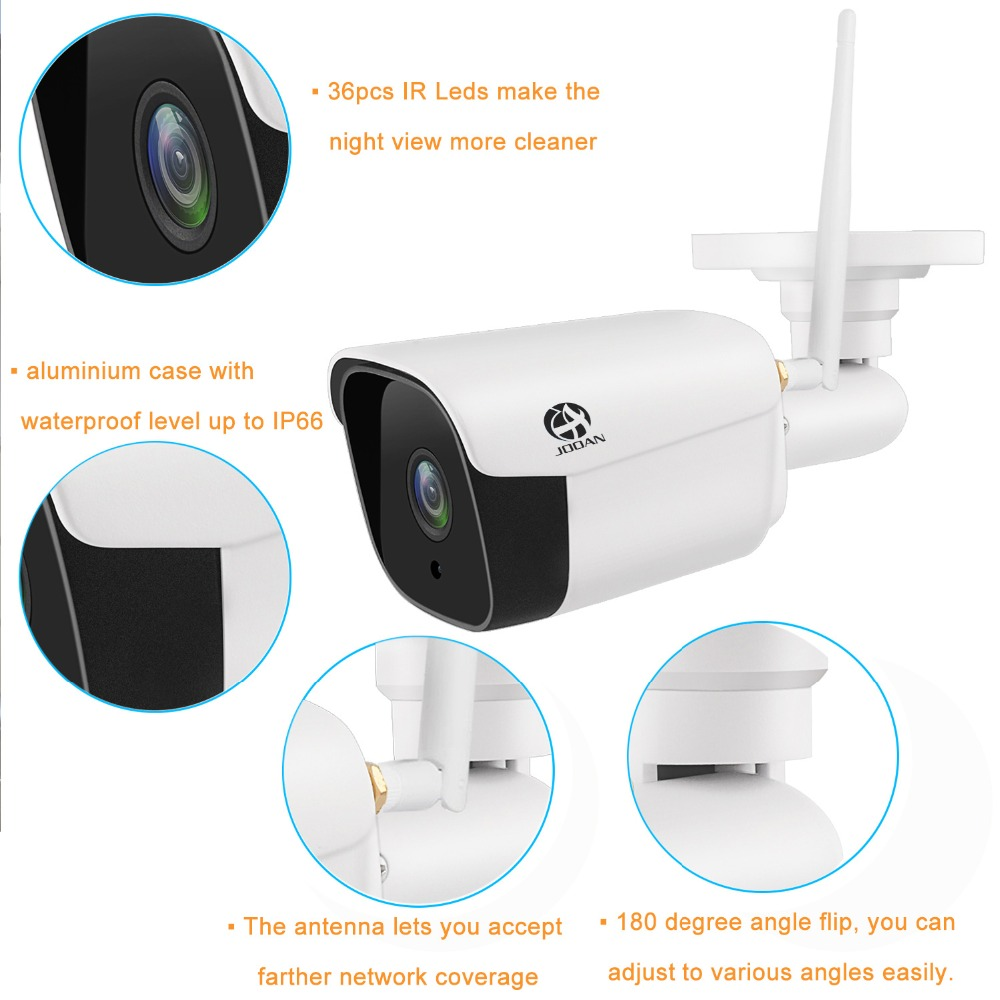 JOOAN wifi outdoor IP camera 1080P waterproof 2.0MP wireless security camera metal 20m Night Vision TF card record P2P bullet