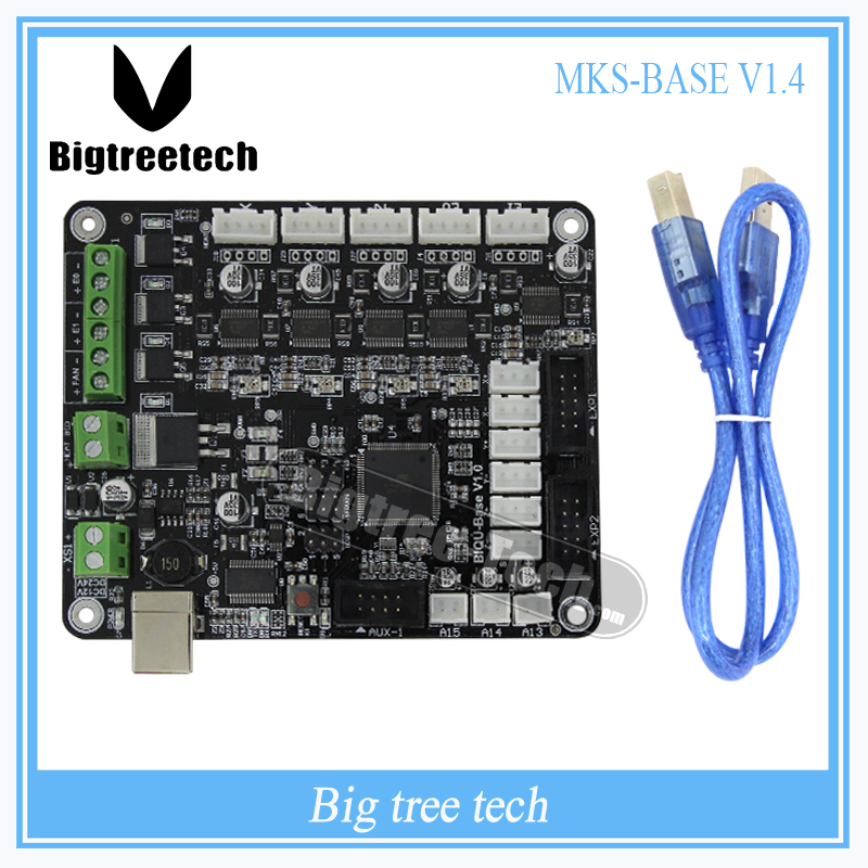 BIQU BASE V1.0 3D printer control board MKS-BASE development board V1.5 RepRap Ramps1.4 compatible For 3D printer parts