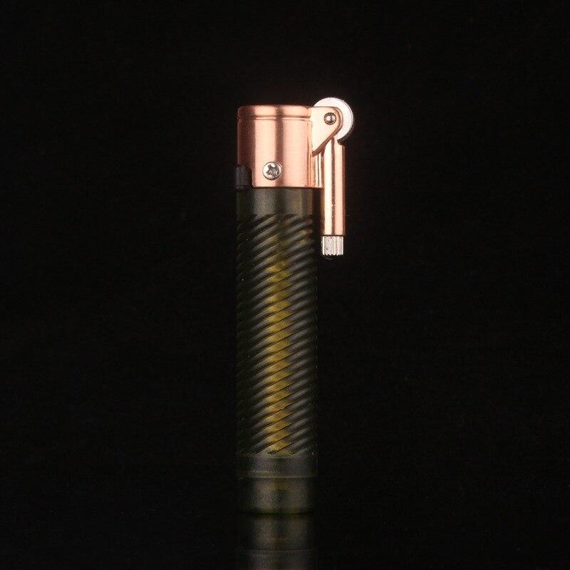 Личность классический цилиндрический шлифовальный Зажигалка для зажигалок Для мужчин огонь Авто-прикуриватели подарочные зажигалки