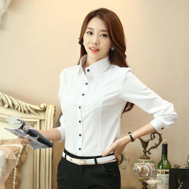 e3361382857b Manga longa gravata borboleta outono nova camisa do desgaste camisa branca  tamanho grande terno trabalho profissional