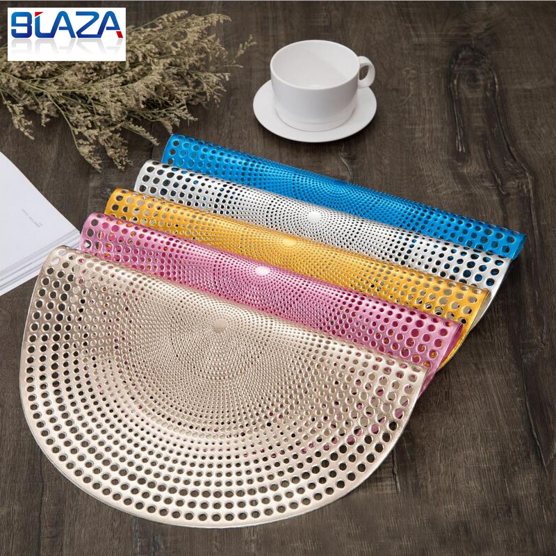 4//6PCS Round Anti-slip Kitchen Placemats Drink Coasters Insulation Pad Table Mat