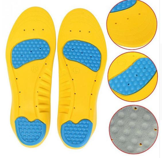 2018 Wholesale 8 pairs of male insole shock absorber anti - skid insole