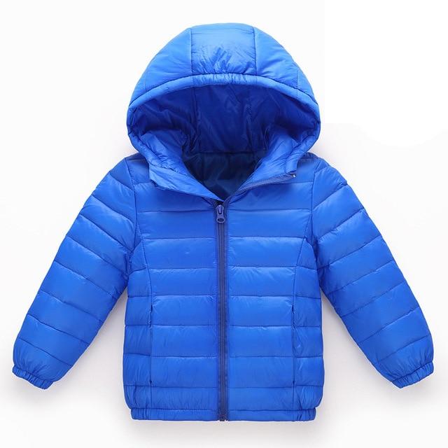 Pengfei Toddlers Winter Baby Girls Boys Puffer Hooded Jacket Light Down Jackets Kids Infants Coats