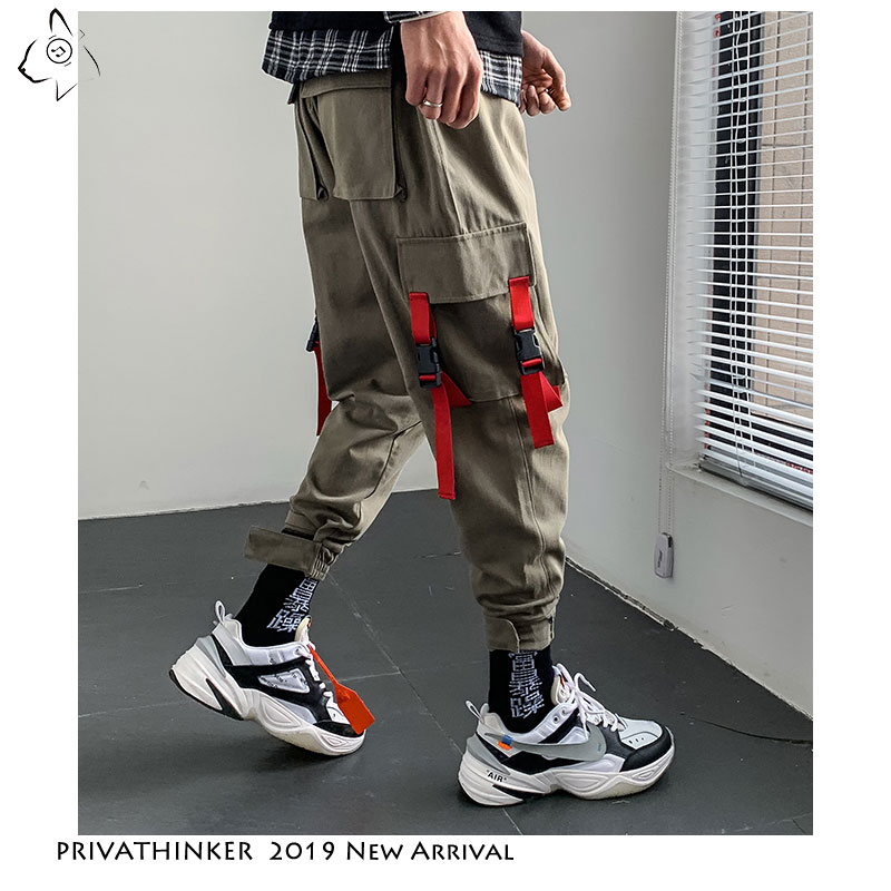 Privathinker 2019 Autum Man INS Streetwear Multi-Pocket Tooling Harem Pants Mens Causal Sweatpants Male Oversized Cargo Pants